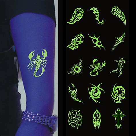 temporary tattoo glow in the dark glow dark tattoos reviews online shopping glow dark