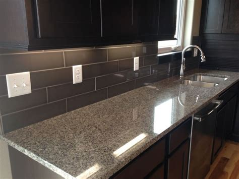 kitchen backsplash in a 4x16 subway style tile