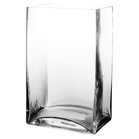 clear square rectangular glass vases h 9 25 quot open 6 quot x4