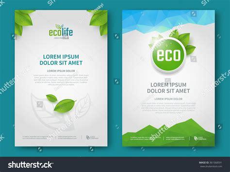 green brochure template eco brochure design vector template corporate stock vector