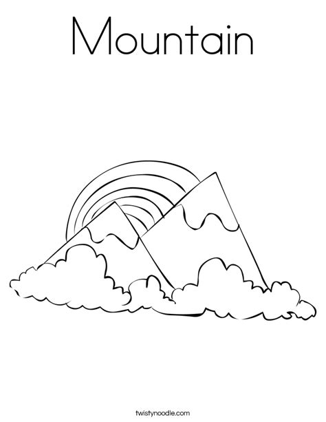 mountain coloring page twisty noodle