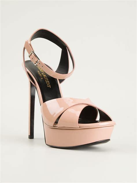 pink platform sandals laurent platform sandals in pink pink