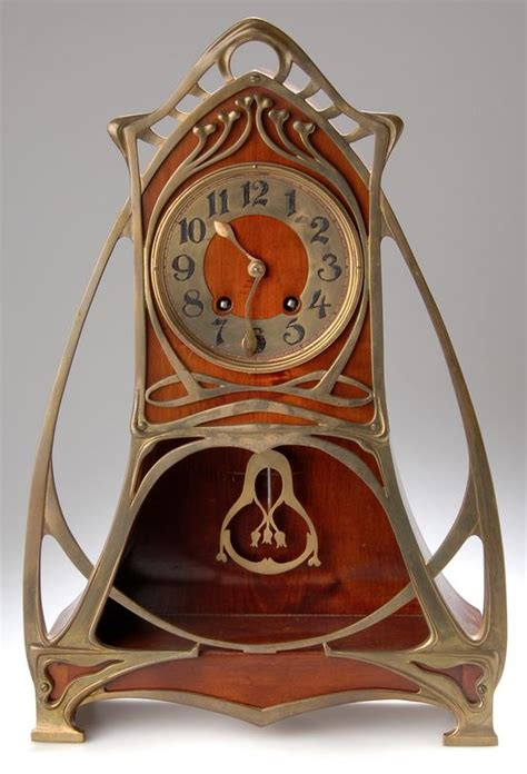 jugendstil standuhr german nouveau table clock stock company for