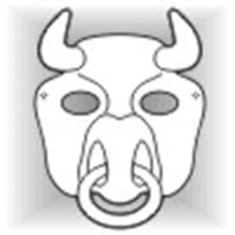 bull mask template free animal masks mask templates to
