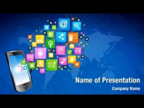 Mobile Phone Applications Powerpoint Video Template Mobile App Ppt Templates Free