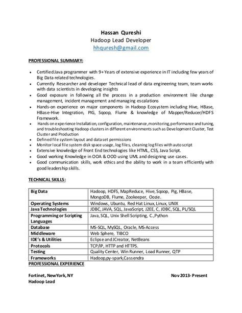 Hadoop Developer Resume by Hadoop Resume