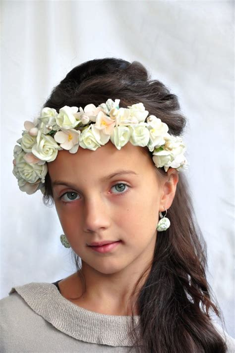 flower bridal crown hair wreath wedding hair accessory floral crown wedding flower crown