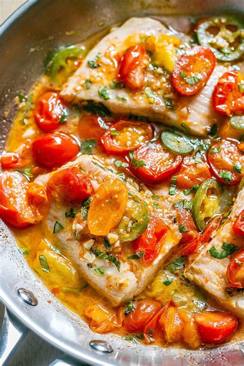 tilapia white fish recipe in tomato basil sauce eatwell101