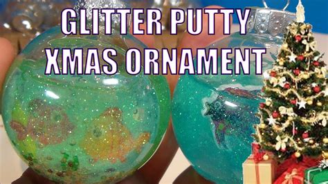 make it yourself ornaments glitter putty slime tree fish tank ornament