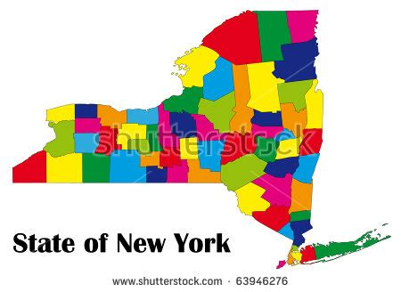 new york state colors color map of new york state stock photo 63946276