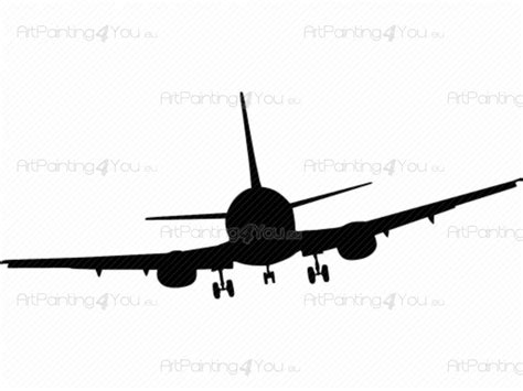 Wall Decals Airplane Silhouette (VDV1020en