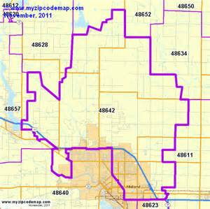 zip code map of 48642 demographic profile residential