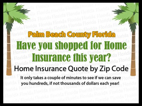 home insurance quotes by zip code palm county
