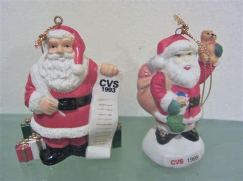 cvs hallmark ornaments santa claus 5pc ormanet lot resin cvs 1993 1995 hallmark