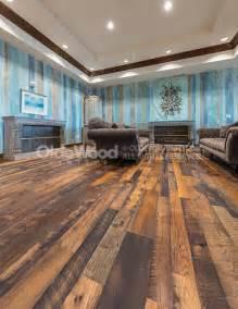 Distressed Wood Plank Flooring - distressed oak reclaimed flooring wide plank oak floor
