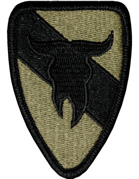 operational camouflage pattern unit patches ocp unit patch 163rd armored cavarly with fastener