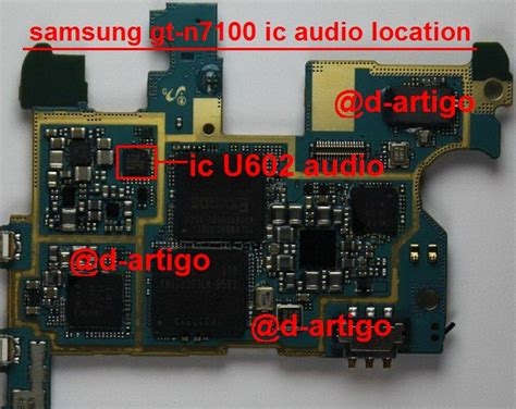 Illustration For Samsung Galaxy Note 1 N7000 note2 speaker mic not working druinng call solution gsm