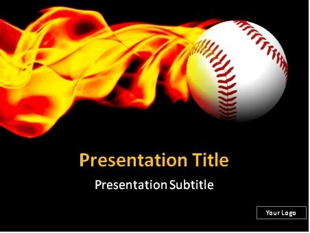 Download Baseball Fireball Powerpoint Template Free Baseball Powerpoint Templates