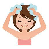 wash hair stock illustrations royalty free gograph