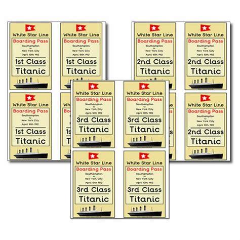 printable titanic tickets 22 best titantic images on pinterest titanic worksheets