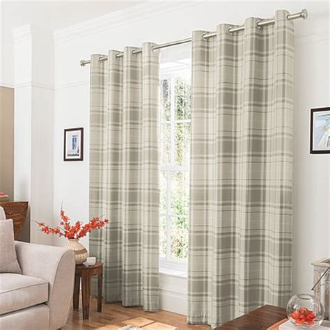 natural check curtains george home natural woven check curtains 66 x 54 inch