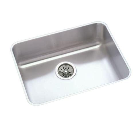 Elkay Stainless Steel Kitchen Sink Elkay Lustertone Drain Undermount Stainless Steel 24 In Single Basin Kitchen Sink