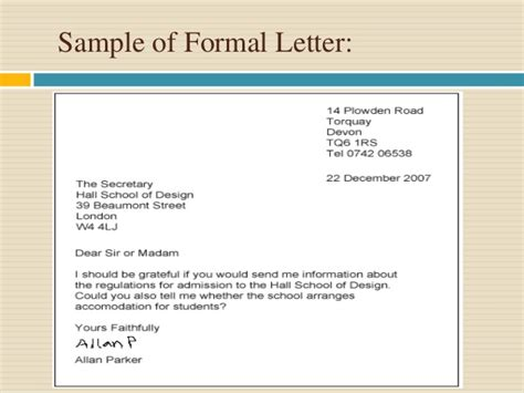 transfer essay sles formal letter official letter format formal transfer