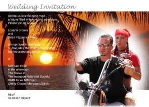 harley davidson wedding invitations
