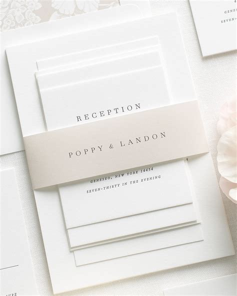 Wedding Invitations Letterpress by Poppy Letterpress Wedding Invitations Letterpress