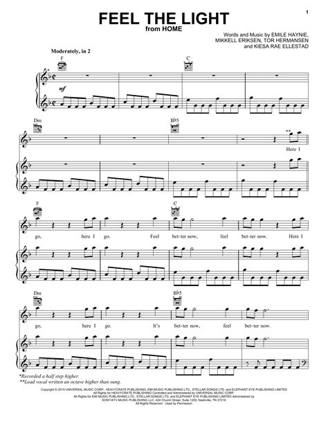 download mp3 song feel the light feel the light sheet music by jennifer lopez piano vocal