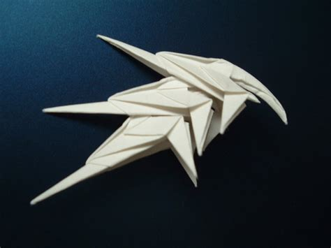 Cool Origami Weapons - origami cool helmet by rfwu on deviantart