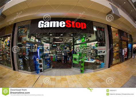 game stop store editorial photography image