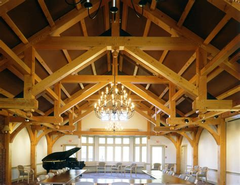 Barn Roof by Modified Hammer Beam Trusses Arched Webs And Braces