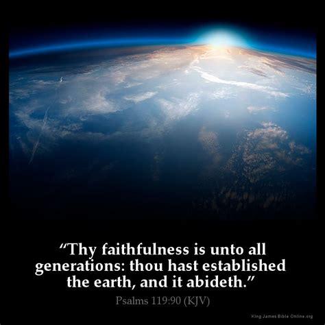 comforting bible verses kjv psalms 119 90 inspirational image