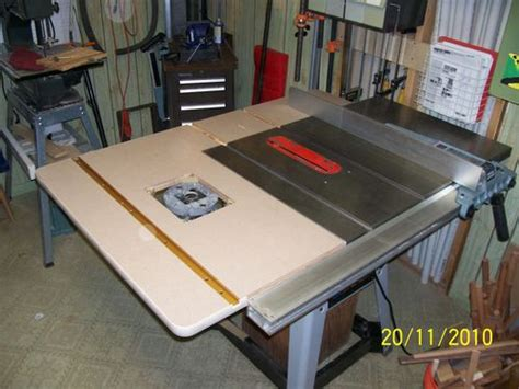 rockwell table saw extension router extension wing by matt12874 lumberjocks com