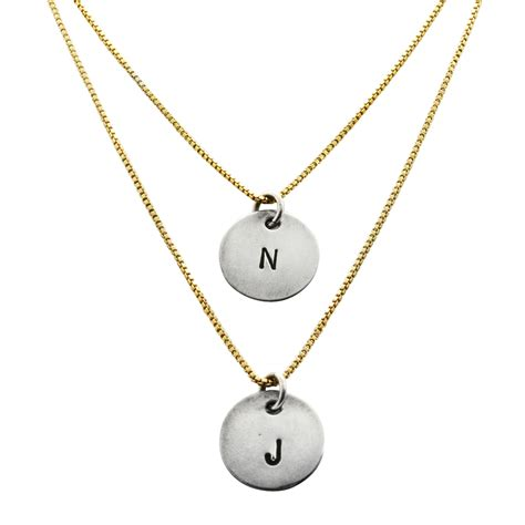 9 top gold pendant necklace with initials serpden