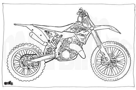ktm motorcycle coloring pages adult colouring page motorcycle illustration