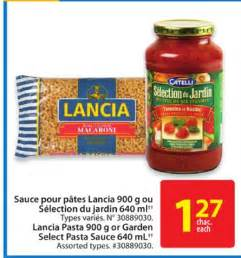 Lancia Pasta Lancia Pasta 900 G Or Garden Select On Sale Salewhale Ca