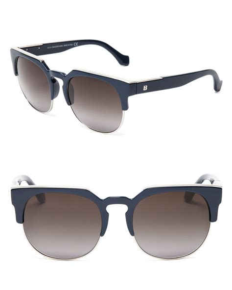Balenciaga Glasses by Lyst Balenciaga Wayfarer Sunglasses In Blue