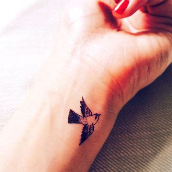 sparrow tattoo on wrist 2pcs small sparrow tiny bird from inknartshop