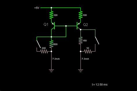 transistor lifier simulator current mirror with transistors circuit simulator