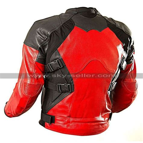 red and black motorcycle jacket deadpool red and black motorcycle leather jacket