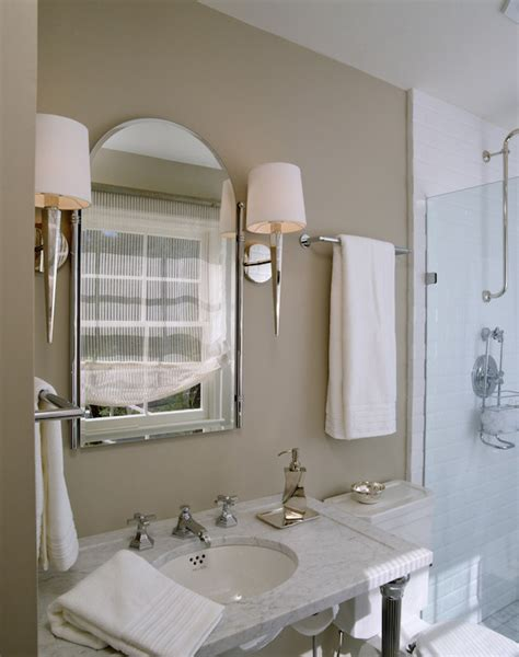 Taupe Colored Bathrooms by White And Taupe Bathrooms Transitional Bathroom