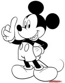 Mickey mouse at a party mickey holding up index finger sad mickey