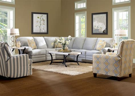 Recliner Sofas by Classic Reclining Sectional Sofa With Rolled Arms By