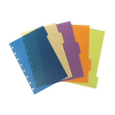 Pen Paper Inter X Folder Index Divider 5 Tabs A4 m by staples arc index dividers poly a5 5 pack assorted colours package 5 each staples 174