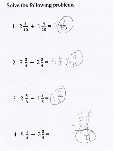 Adding And Subtracting Mixed Numbers Worksheet by Adding And Subtracting Fractions And Mixed Numbers