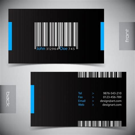 sophisticated business card template sophisticated business card template vector barcode free