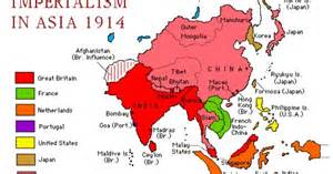 map of imperialism in asia 1914 for school