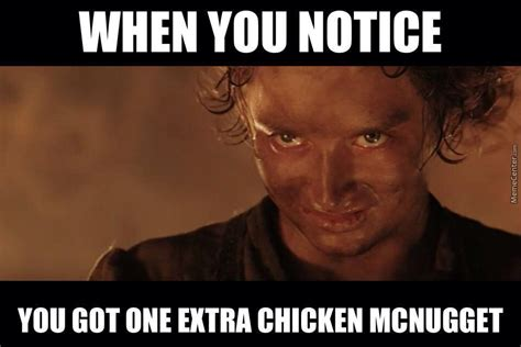 Frodo Meme - chicken nugget frodo by thorinoakenshield meme center